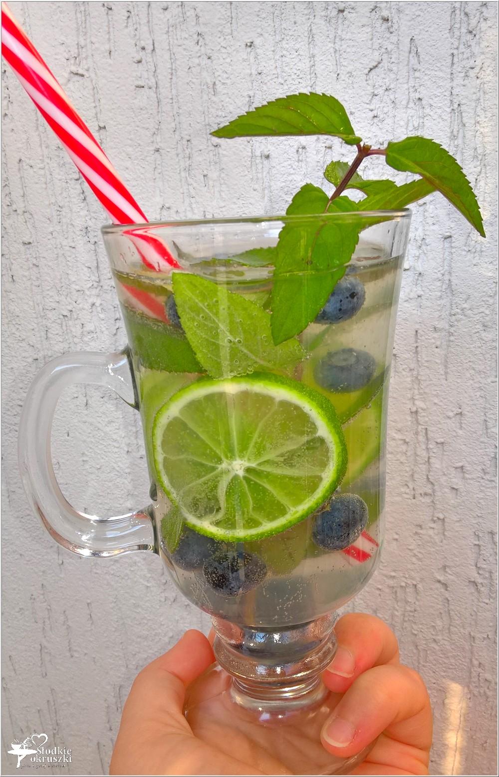 Domowy napój izotoniczny limonka-borówki-mięta (1)