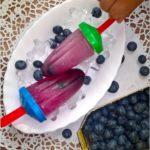Herbaciane lody z borówkami