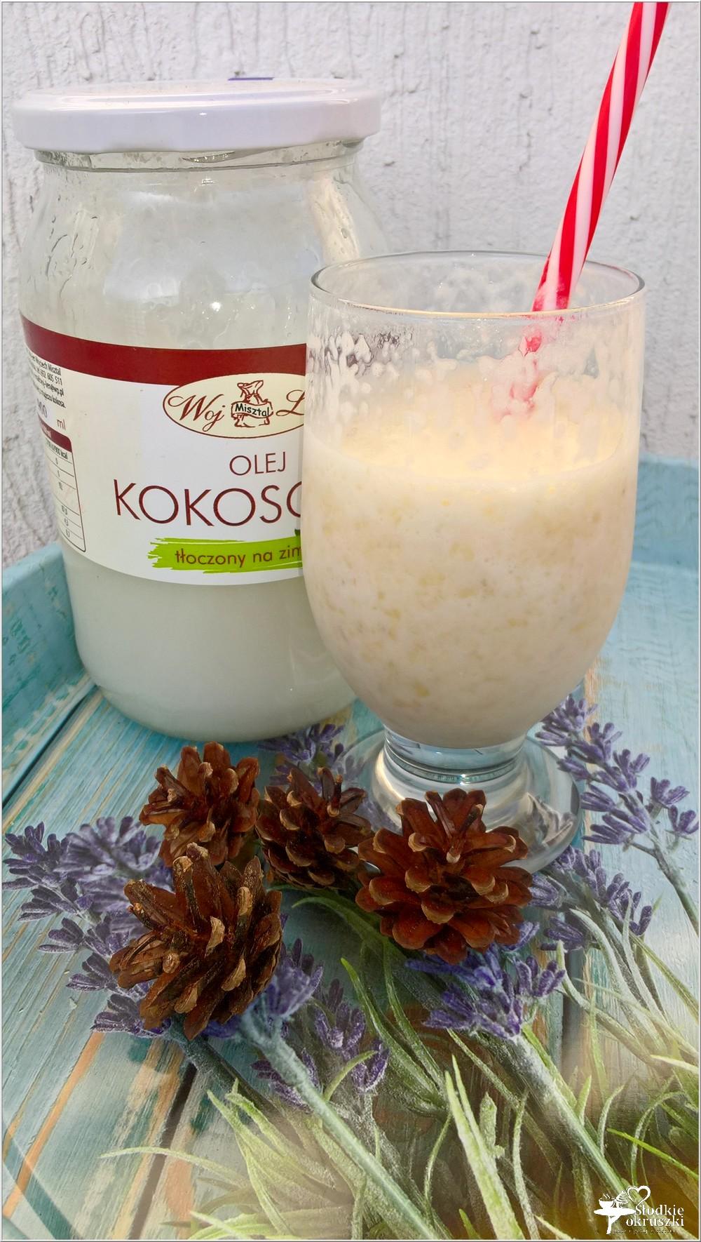 Zdrowy shake bananowy (z olejem kokosowym) (2)