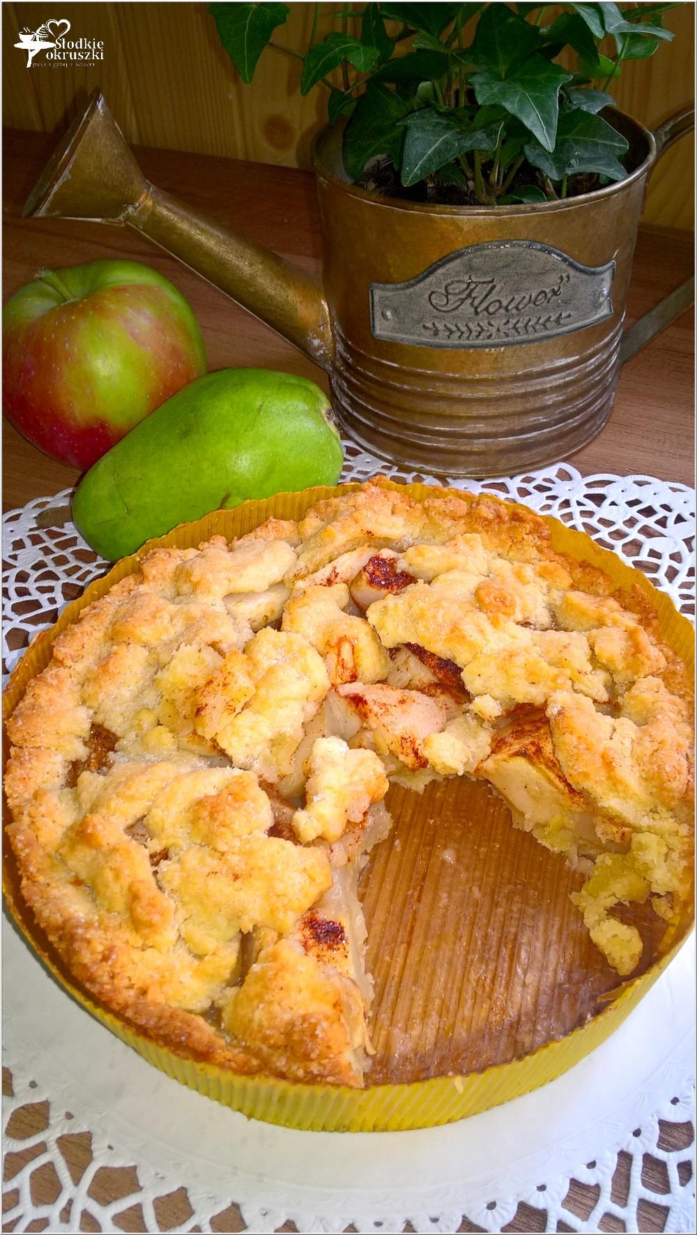 Gruszkowo-jabłkowe ciasto deserowe (kruche) (1)
