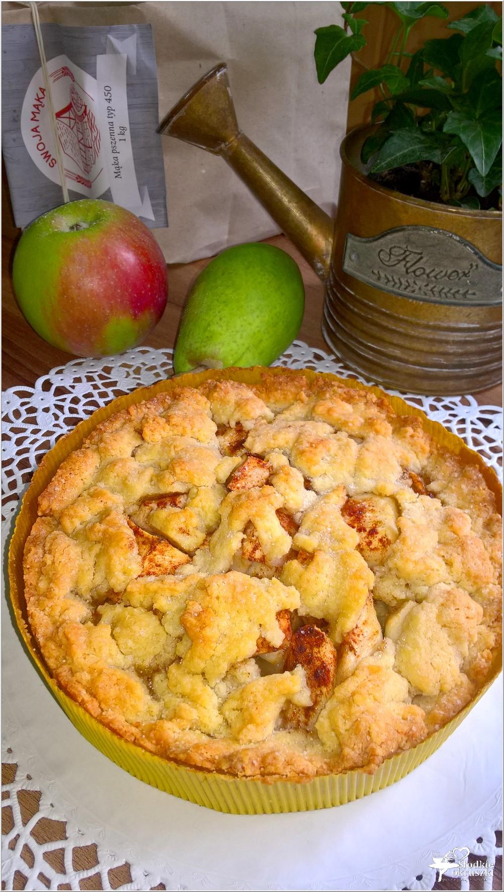 Gruszkowo-jabłkowe ciasto deserowe (kruche) (4)