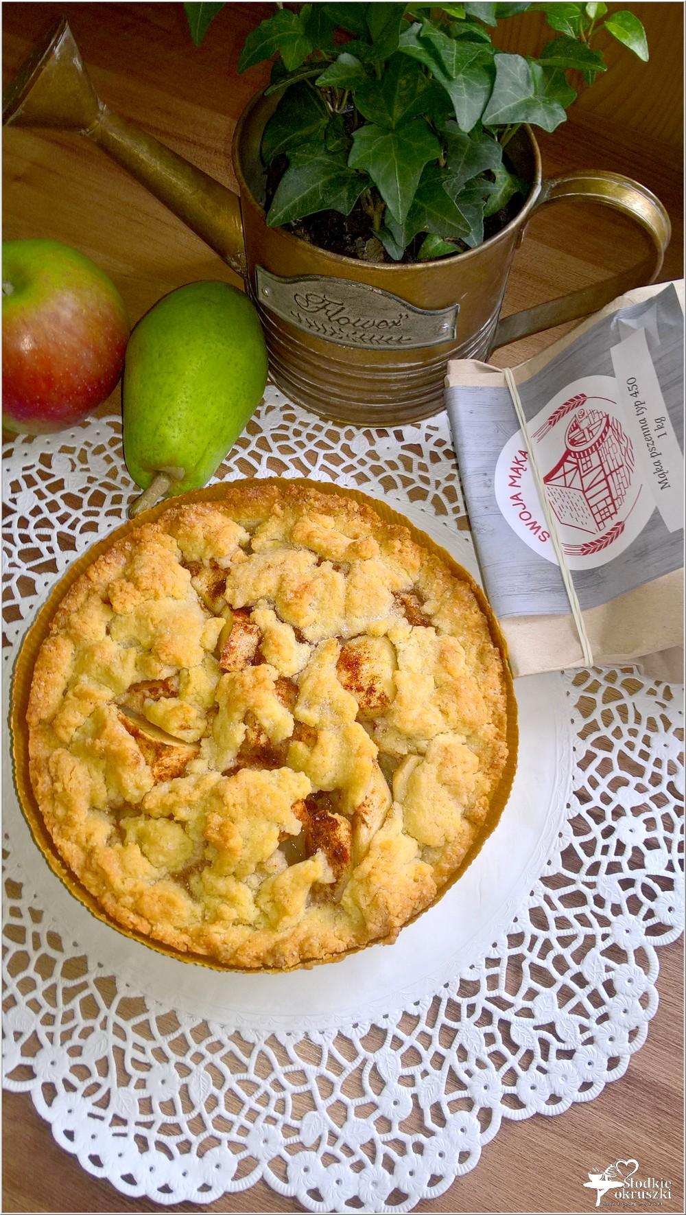 Gruszkowo-jabłkowe ciasto deserowe (kruche) (5)