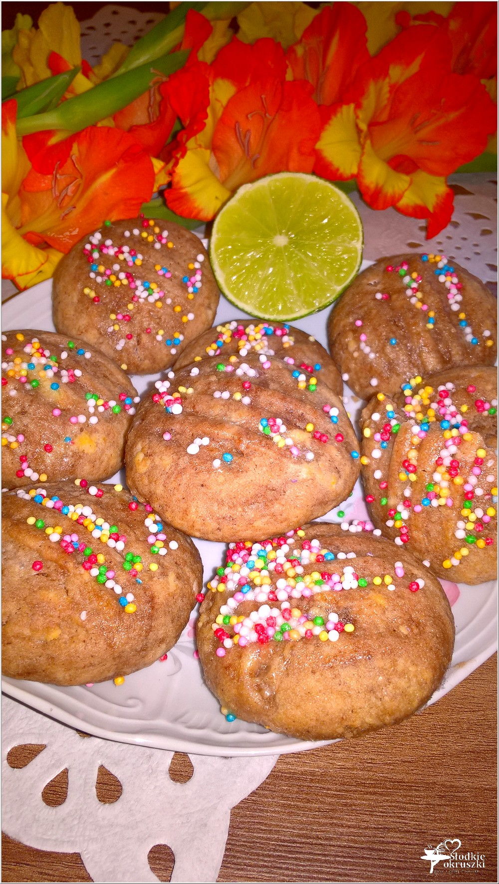 Szybkie czekoladowe ciasteczka z limonkową nutą (2)