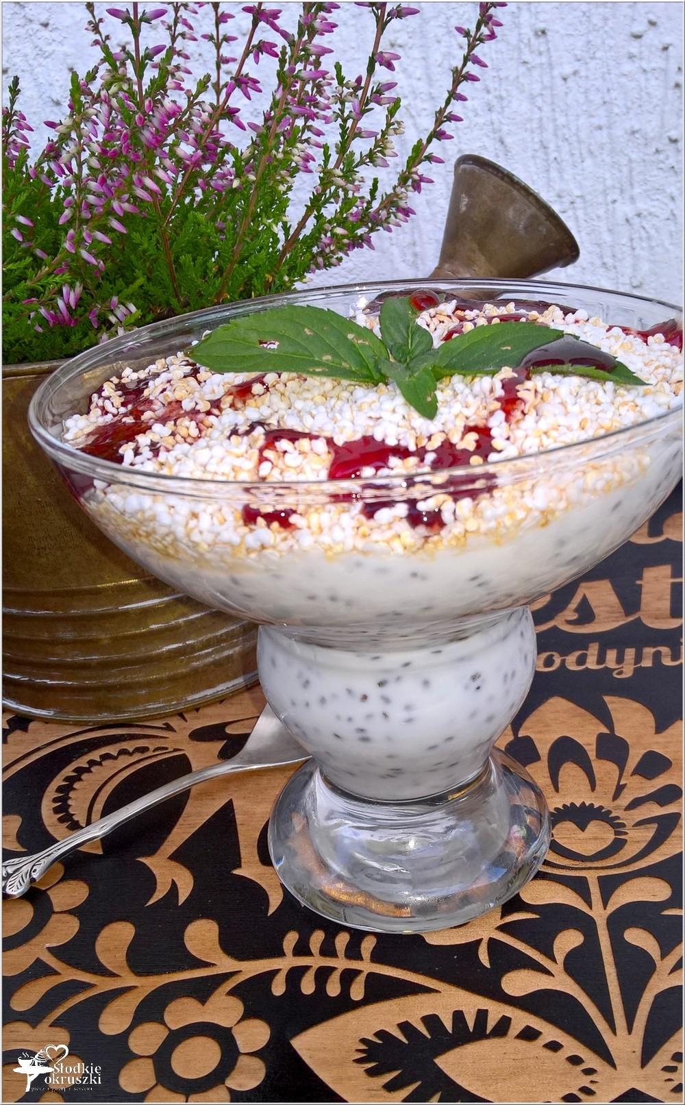 Lekki deser chia z ekspandowanym amarantusem i słodkim jabłuszkiem (1)
