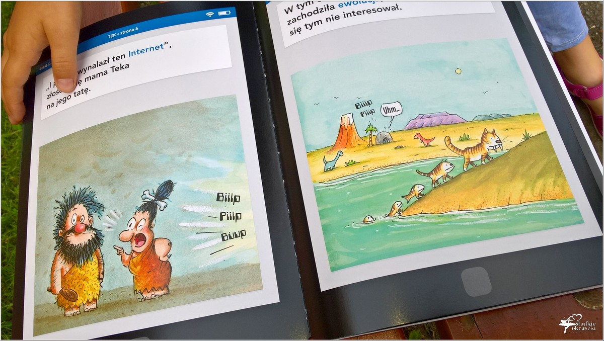 Polecam! TEK Nowoczesny jaskiniowiec. Książka dla dzieci (4)
