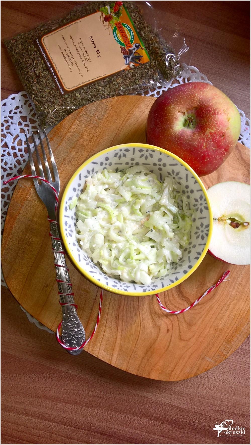 Szybka sałatka z pora z bazyliową nutą (2)