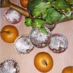 Kakaowe muffinki nadziane jabłko-gruszką