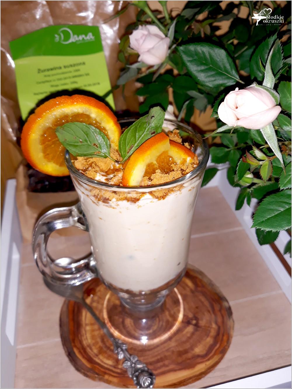 Kremowy deser kokosowo sernikowy (z żurawiną i pomarańczą) (3)