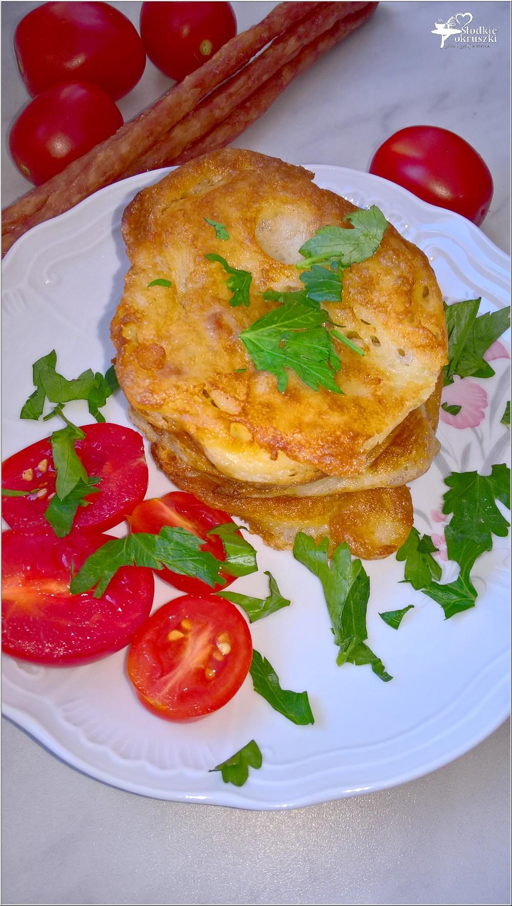Placuszki z kabanosem (na śniadanie lub szybki obiad) (1)