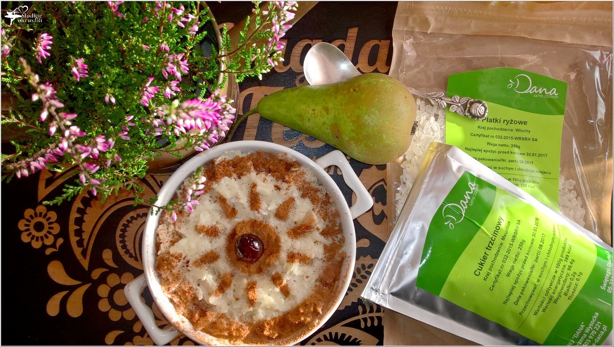 Zapiekany pudding ryżowy z gruszką i cynamonem (2)