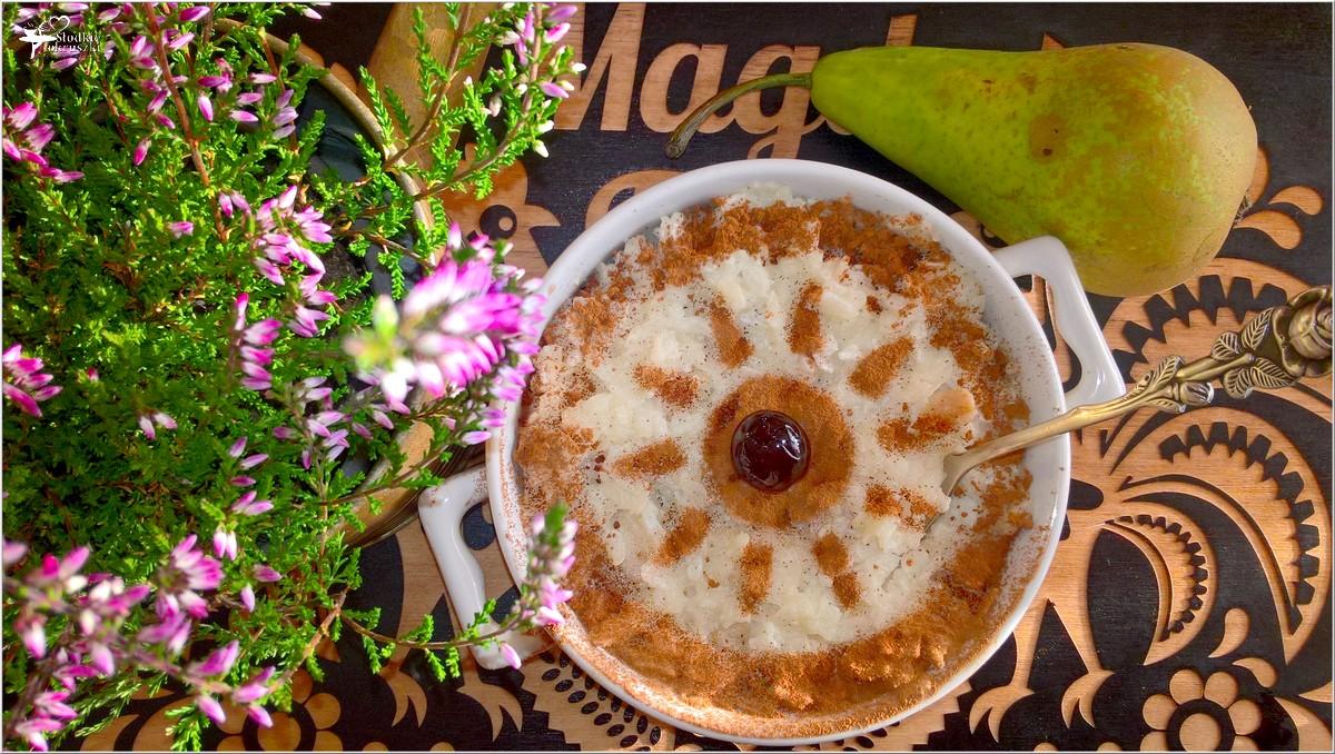 Zapiekany pudding ryżowy z gruszką i cynamonem (4)