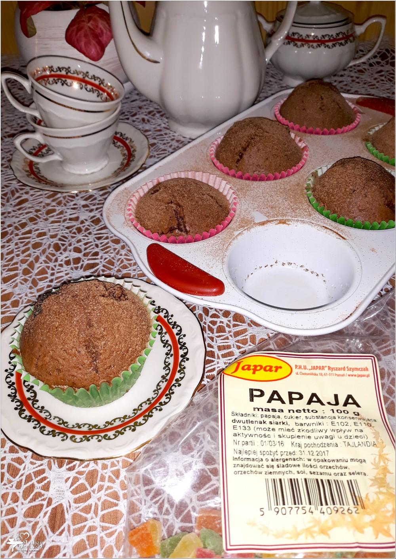 Czekoladowe babeczki z papają (na oleju kokosowym) (3)