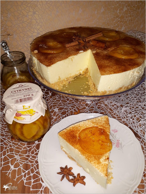 Delikatny pomarańczowo-cytrynowy sernik (4)