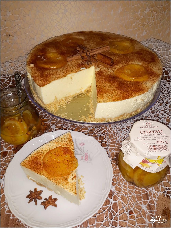 Delikatny pomarańczowo-cytrynowy sernik (7)