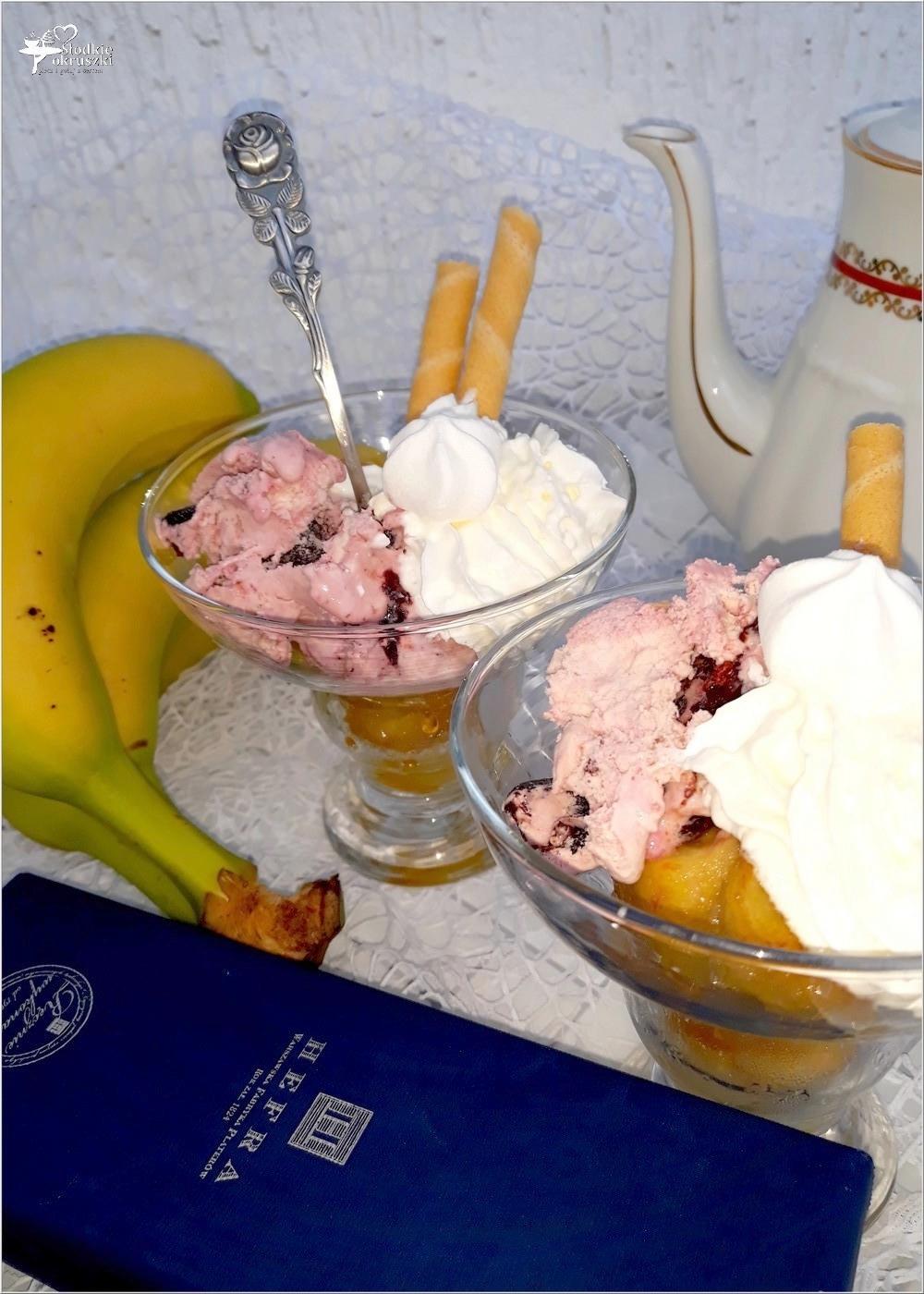 Deser z karmelizowanym bananem i lodami. I kilka słów o.. (3)