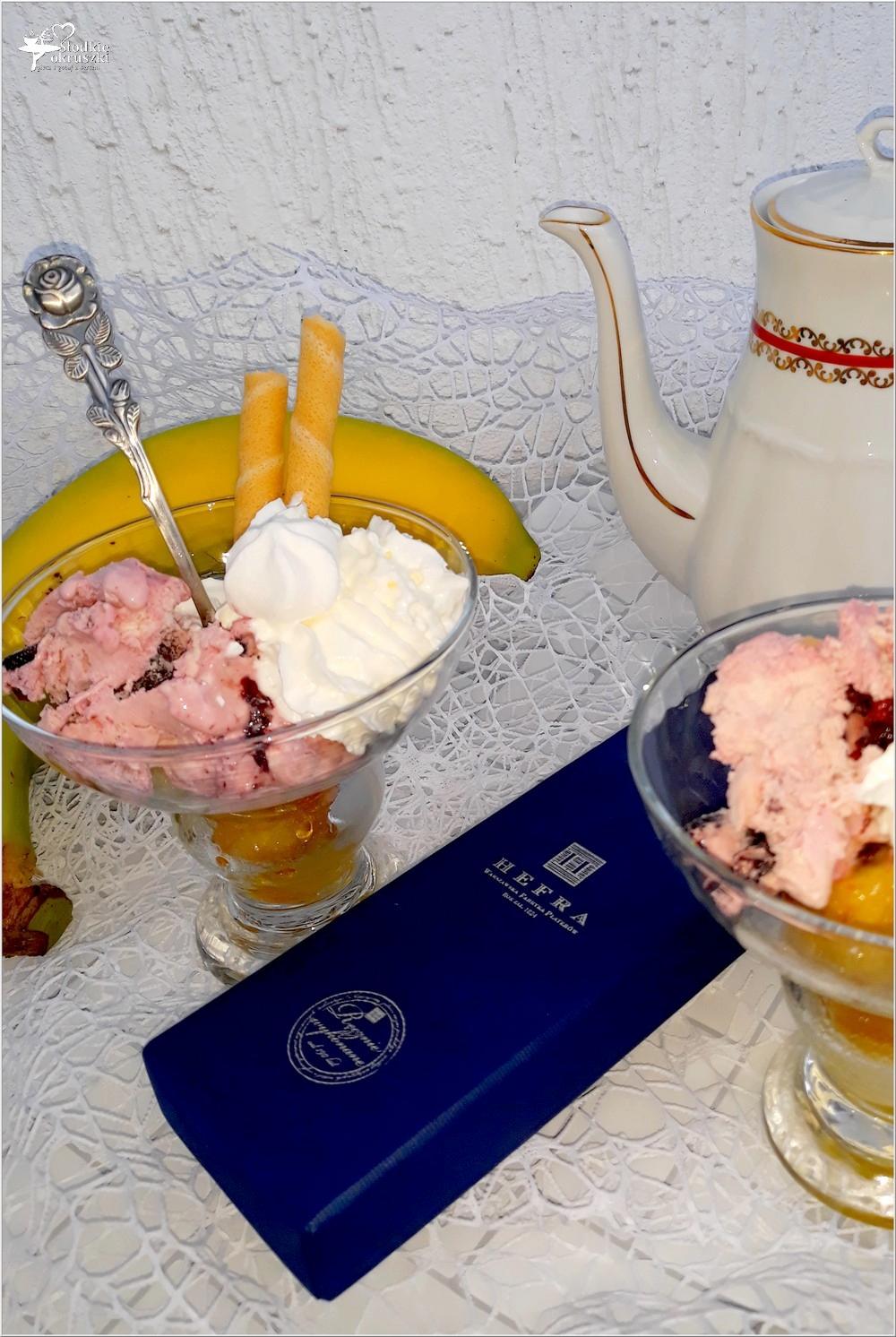 Deser z karmelizowanym bananem i lodami. I kilka słów o.. (4)