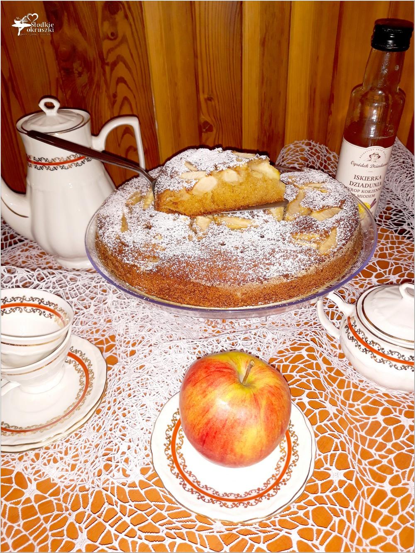 Korzenno miodowe ciasto jabłkowe (4)