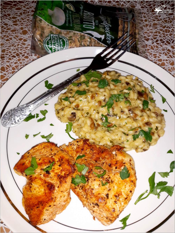 Soczysty paprykowy kurczak z pieczarkowym risotto (3)