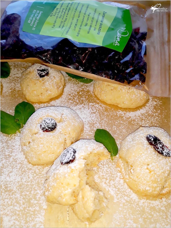 Bananowe ciasteczka z żurawinowym oczkiem (5)