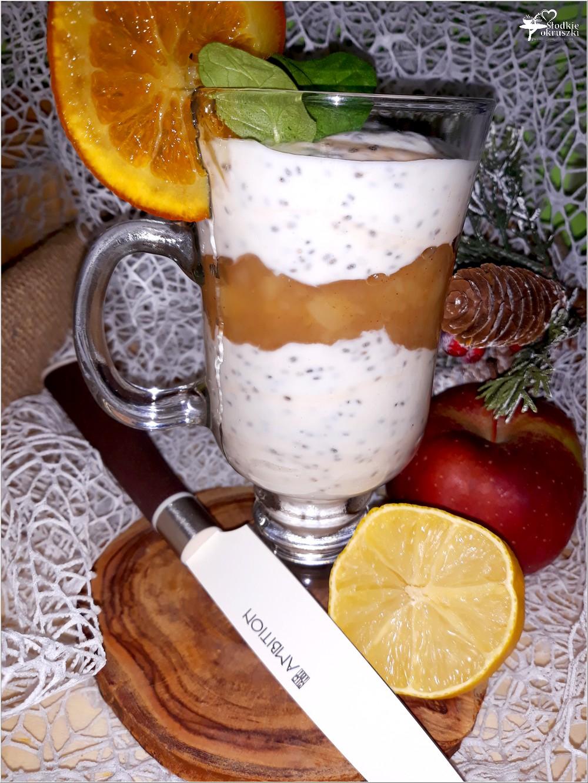 Cynamonowy deser z chia + przepis na prażone jabłka z cynamonem (2)