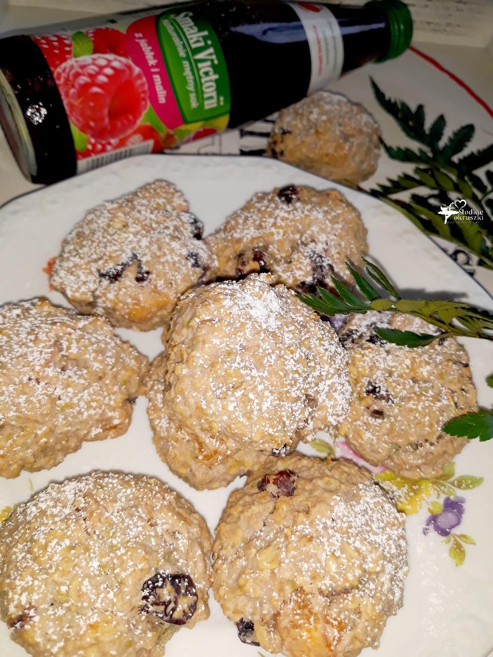 Owsiane ciasteczka na soku jabłkowo-malinowym 3