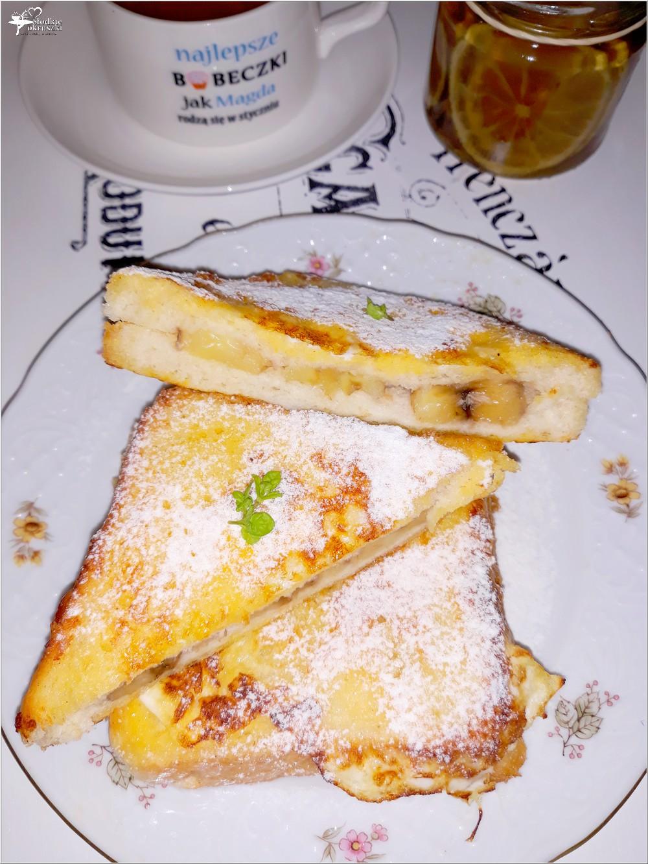 Bananowe tosty we francuskim stylu (na słodko) (2)