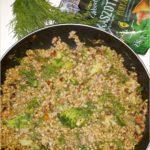 Szybkie kaszotto z brokułem i kurkami (w lżejszej wersji)