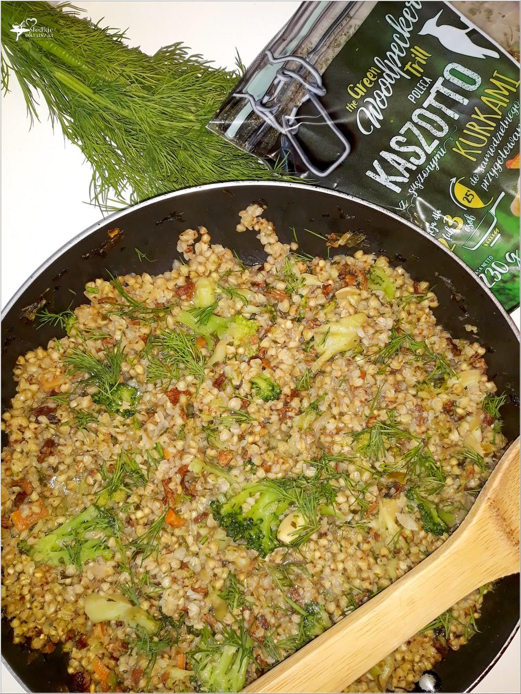 Szybkie kaszotto z brokułem i kurkami (w lżejszej wersji) (2)