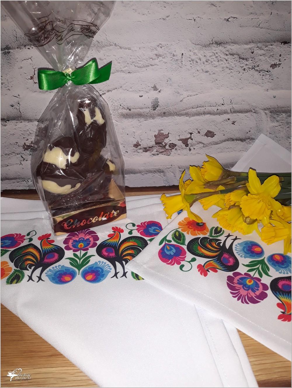 Wiosenne serwetki z ręcznym nadrukiem w stylu folk i kilka słów o wyrobach TEHORE (2)