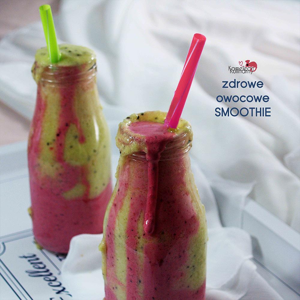 zdrowe owocowe smoothie w buteleczkach