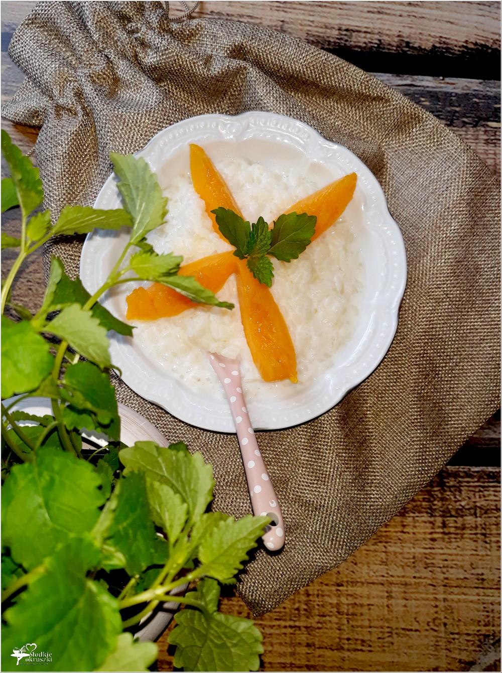 Mleczno-mięto ryż z owocami (1)