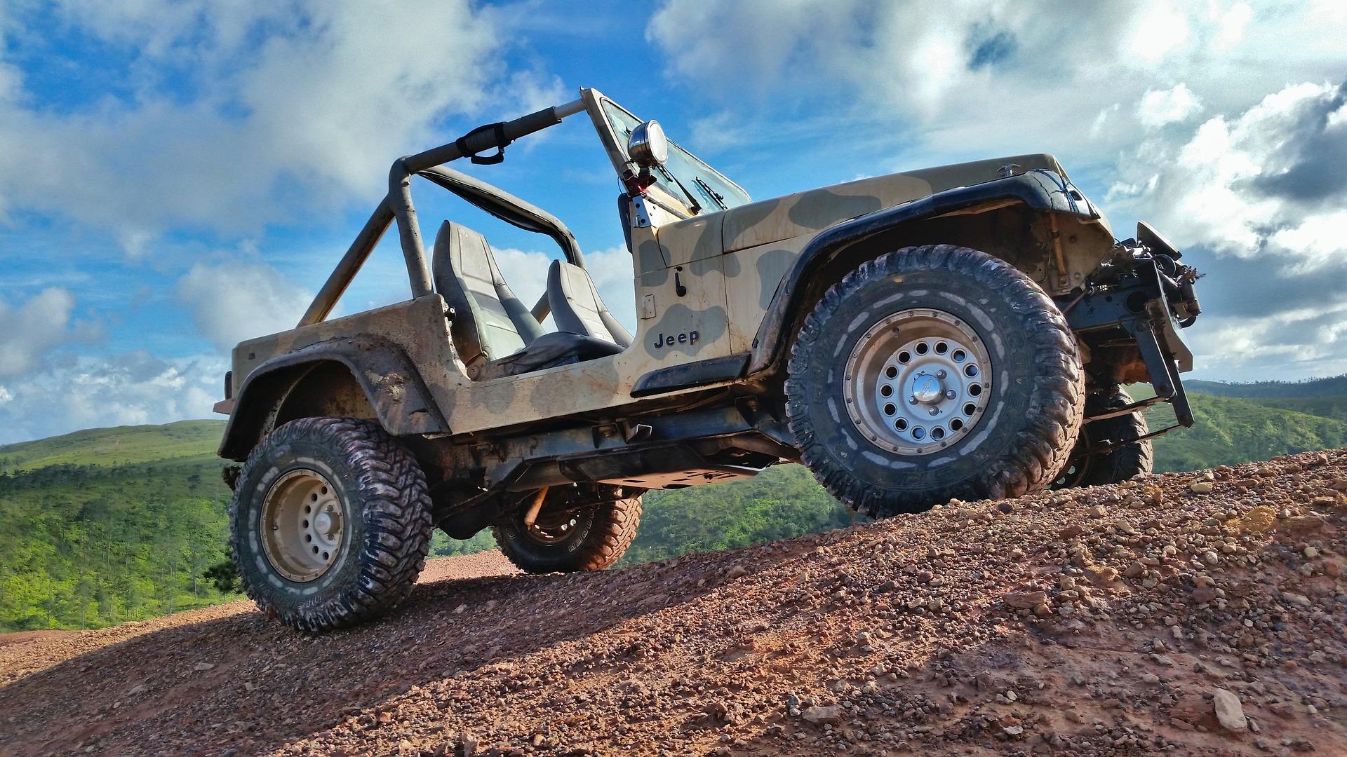 jeep - prezent - jazda