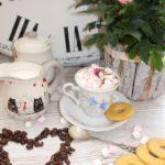 Zimowa kawa z piankami marshmallow