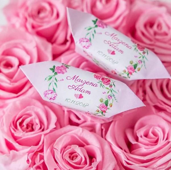 Cukierki ślubne idealne na wesele Personalizowane krówki idealnym prezentem