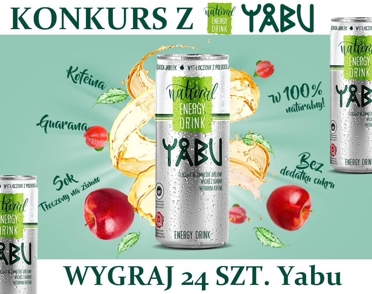 Wygraj 24 szt. Yabu Energy Drink - Yabukowa energia z natury