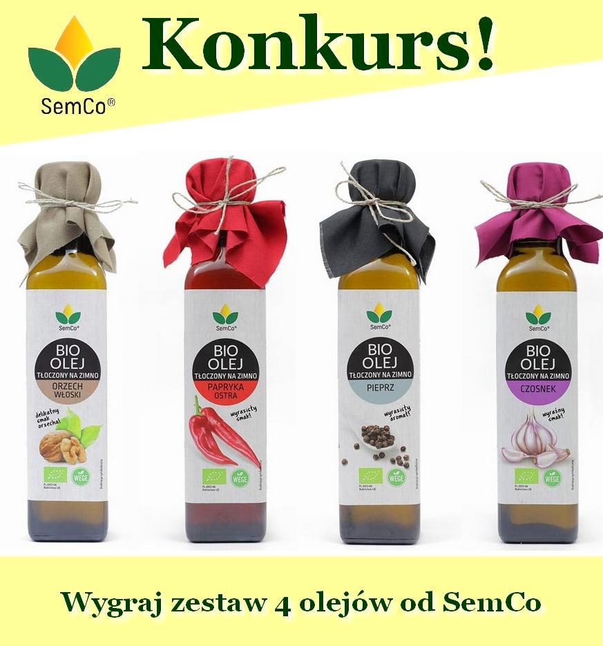 Wygraj zestaw 4 olejów od  SemCo idealnych do letnich sałatek