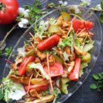 Sałatka z domowym kebabem drobiowym