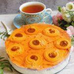 Sernik słoneczko z jagodową warstwą (bez pieczenia)